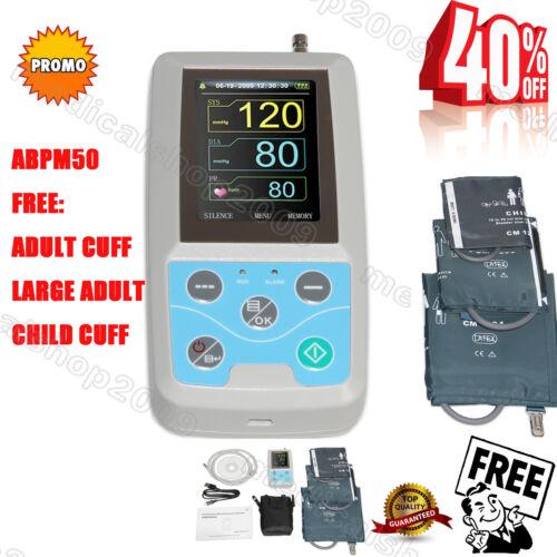 CONTEC ABPM50 Arm 24h NIBP Ambulatory Blood Pressure Monitor+PC Software+3 Cuffs