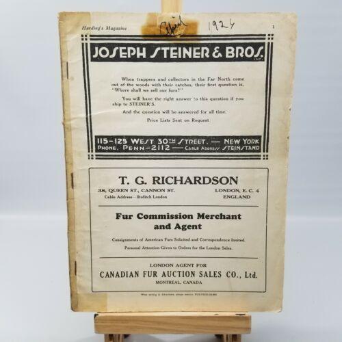 Vintage Fur Fish Game Magazine April 1926 Articles Advertising Decor (No Front)
