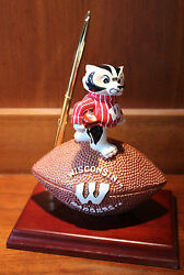 New Wisconsin Badgers Mascot Desk Pen Clock  Set Football NCAA License College