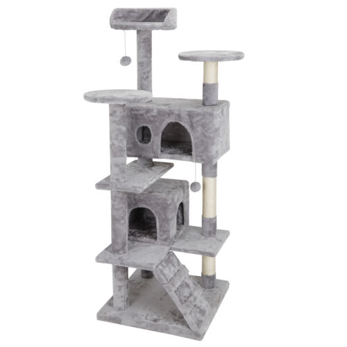Activity Tower Pet Cat Tree 53″ Kitty Furniture with Sisal-Covered Scratch Post Cat Supplies
