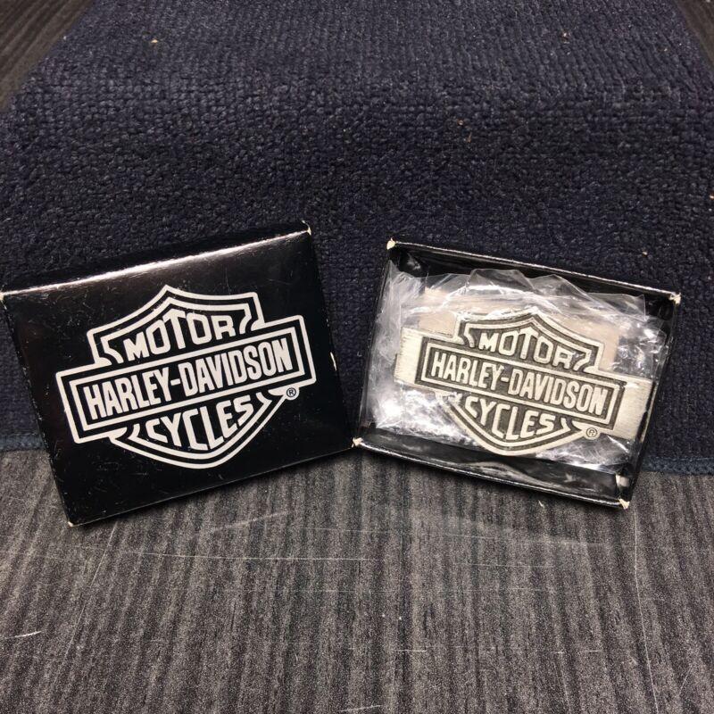 Harley Davidson Motorcycles Bar & Shield Money Clip - Metal Biker Hallmark Brand