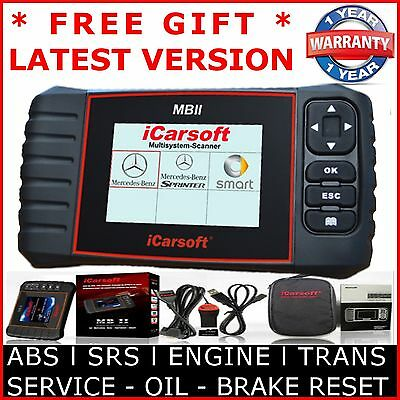 MERCEDES BENZ SPRINTER OBD2 Diagnostic Scanner Tool SRS ABS iCarSoft MBII i980