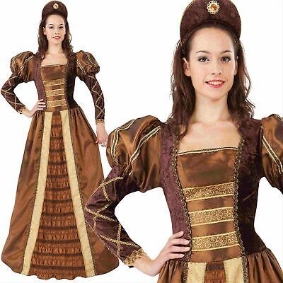 Damen Gelbgolden Queen Tudor Elizabeth Kostüm Kostüm Mittelalter Damen - Tudor Damen Kostüm