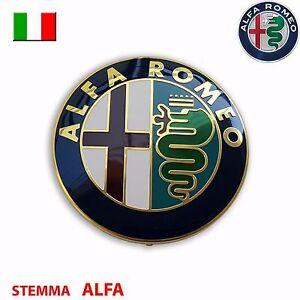 stemma alfa romeo mito giulietta 147 156 159 logo fregio ant post 74mm ebay. Black Bedroom Furniture Sets. Home Design Ideas