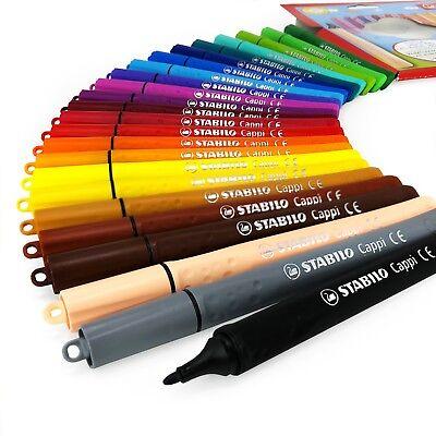 Stabilo Cappi Punta Fibra Rotuladores – Cartera De 24 Varios Colores