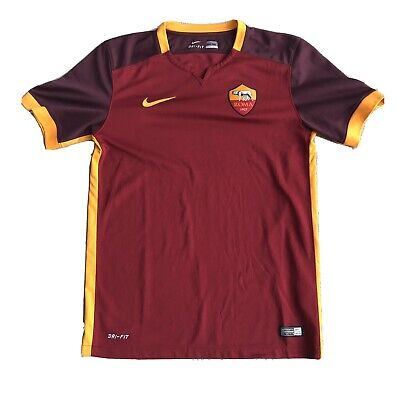 AS Roma Home Soccer Shirt Jersey 2015/2016 Nike Size Small Totti Authentic image