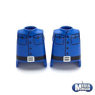 playmobil® Western 2 x Oberkörper blau   schwarz   Uniform   Soldat   Garde