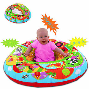 NEW GALT TOYS FARM BABY PLAYNEST FROM BIRTH MULTI SENSORY INFLATABLE PLAY RING
