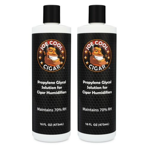 Cigar Humidor Propylene Glycol Solution - 16oz Bottles - 2 PACK - Joe Cool Cigar