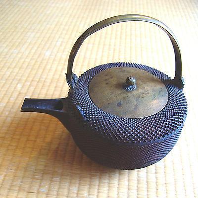 Antique 19th Century JAPANESE TETSUBIN Tea Kettle vintage cast iron chagama NR