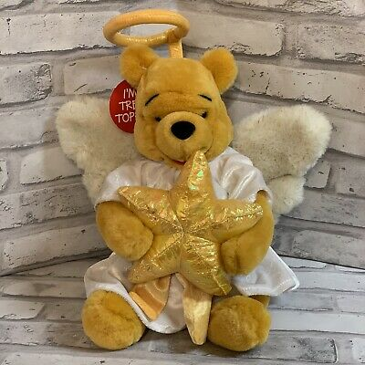 Angel Pooh With Star Plush Tree Topper 12 Inch Disney Store