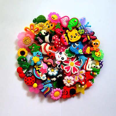 50 pcs different Jibbitz Shoe Charms  Fit  Coc &  Jibbitz Bands Bracelet  Gifts