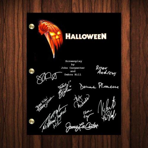 Halloween Autographed Signed Script Reprint Michael Myers Cast Signed Autograph