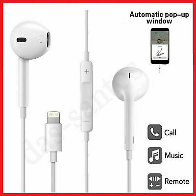 Bluetooth Earphones With Lightning Port For iPhone XR X 7 8 XS SE With Mic