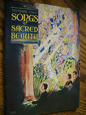 SHEET MUSIC SONG BOOK TREASURE CHEST SONGS OF SACRED BEAUTY 1937