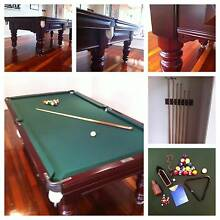 "8""x4""Exelsia Billiard Table (Solid Blackwood Timber) Hillside 3037 Melton Area Preview"