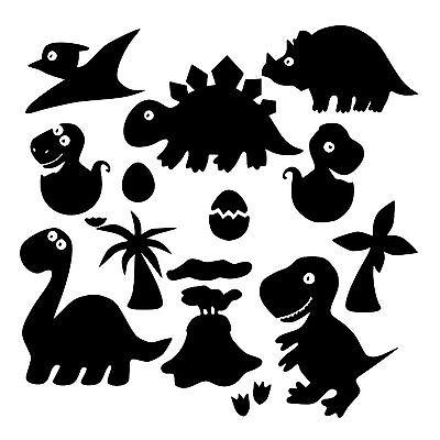 - Little Dino Set Dinosaur Jurassic T-Rex Removeable Vinyl Wall Art Decal Sticker