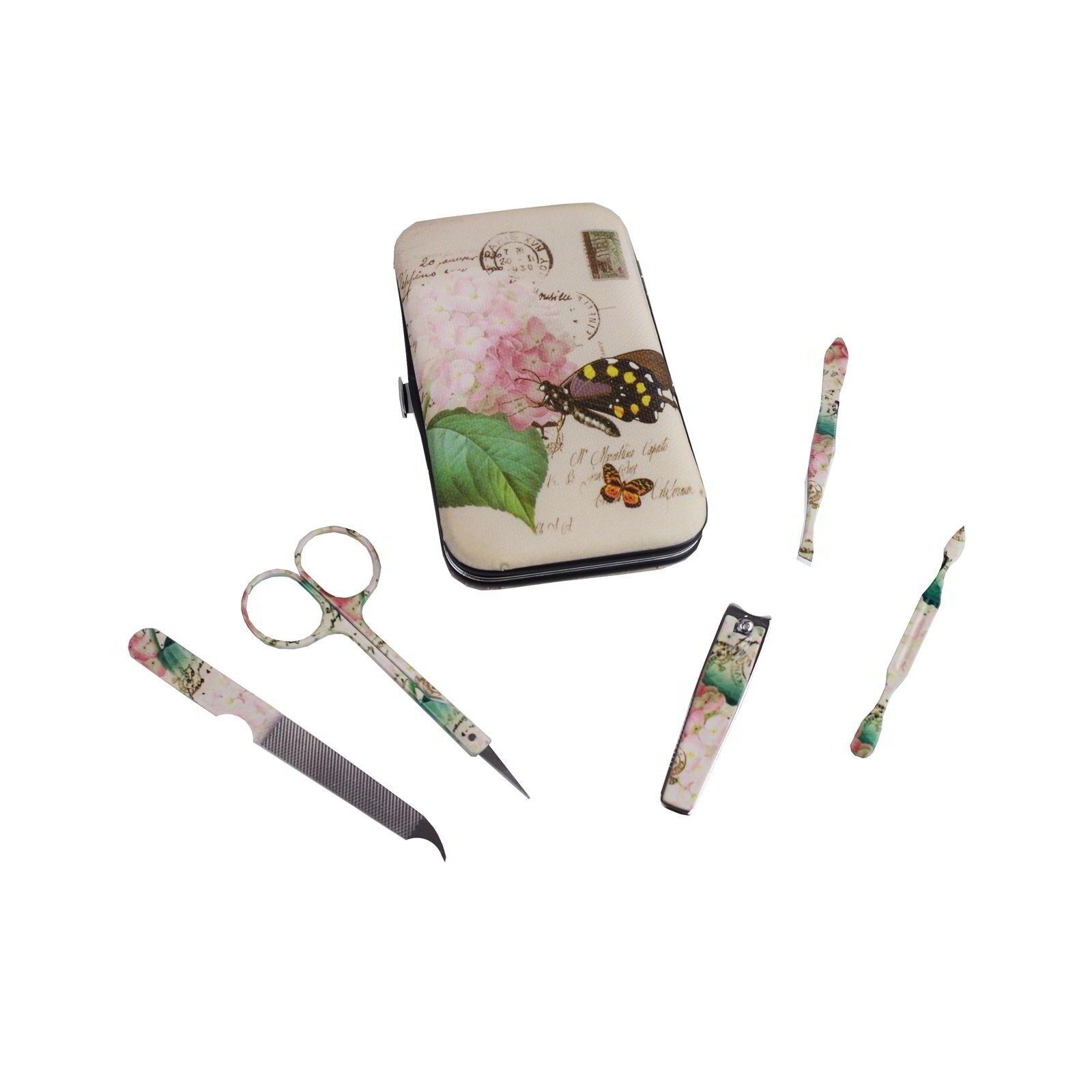 Maniküre-Set Retrodesign 6tlg. Nägel Beauty Beautyprodukt Pflegeprodukt Maniküre