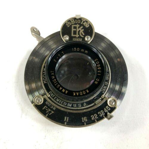 Kodak Eastman Anastigmat Shutter f/7.7 130mm Optical Vintage Camera Lens