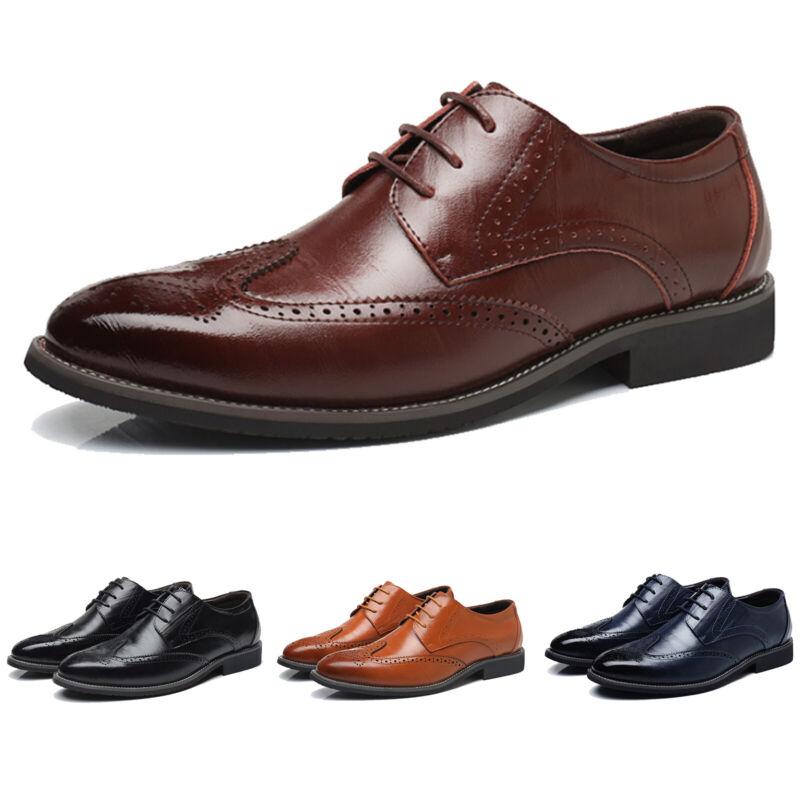 Leder Herren Anzug Schuhe Halbschuhe Schnürer Schnürschuh