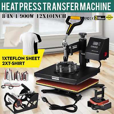 Us 12x10 8 In1 Transfer Sublimation T-shirt Mug Hat Plate Cap Heat Press Machine
