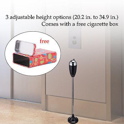 3 Piece Design Vintage Outdoor Standing Ashtray Height Adjustable Black New