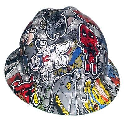 Twisted Toons Msa V-guard Full Brim Hard Hat