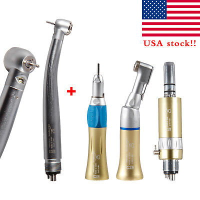 Dental High Low Speed Handpiece Kit E-type 4h Air Motor Led E-generator Turbine