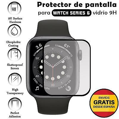 Protector de Pantalla para Apple watch series 6 44 mm Negro cristal...