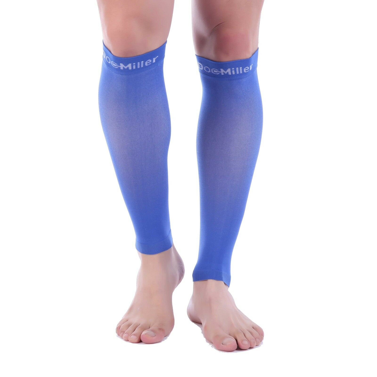 7b54225efcc51 Details about Doc Miller Calf Compression Sleeve 30-40 mmHg Varicose Veins  Leg Support BLUE