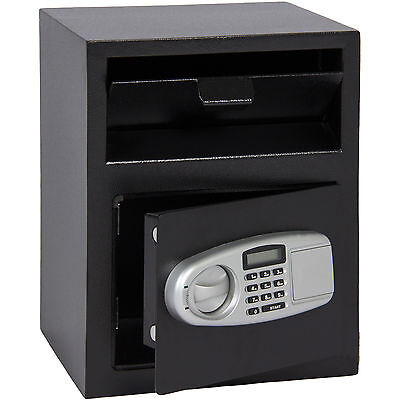 - Electronic Safe Box Depository Drop Front Load Cash Jewelry Lock Home Office US