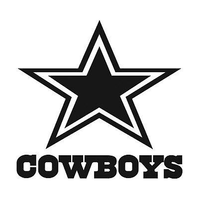 x2 NFL Dallas Cowboys Vinyl Decal for Truck Car Window Sticker Black or White - Dallas Cowboys Window Decal
