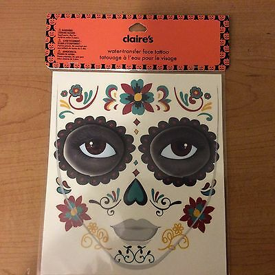 Claire's Temporary Tattoos NEW Water Transfer Face Tattoo Halloween ](Claire's Halloween Face Tattoos)