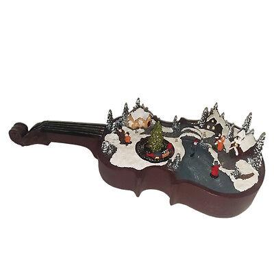 Halloween Con Musica (NATALE Scena natalizia musica e luci poggiato su violino-carillon con movimento)
