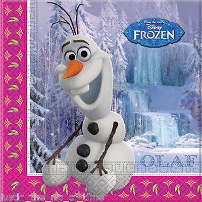Disney FROZEN Princess Paper Napkins OLAF Girls Party Supplies Tableware Job Lot ()
