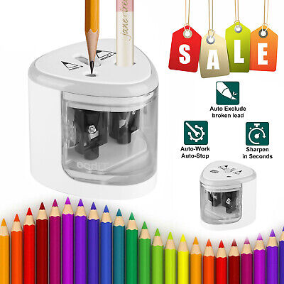 Automatic Electric Touch Switch 2 Holes Pencil Sharpener For School Office Tool