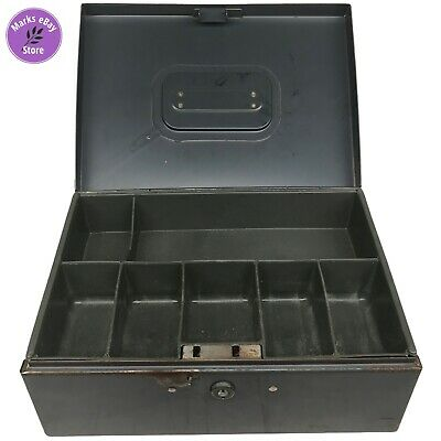 Steelmaster Grey Metal Cash Box With 7 Compartments No Key