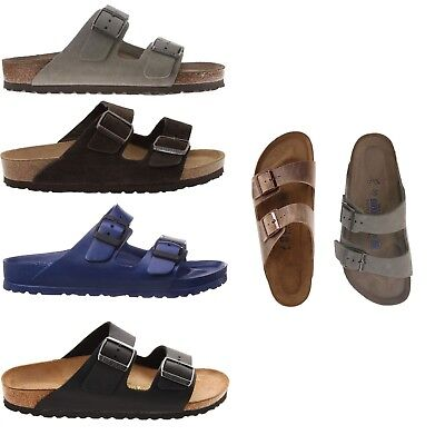 Birkenstock Women Men's NEW Arizona Classic Cork Footbed 2-Strap Slides Sandals