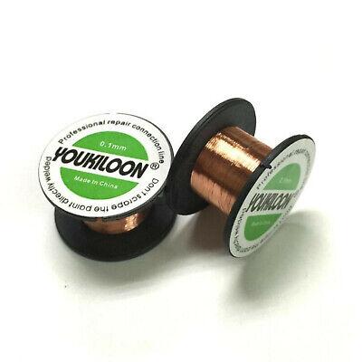 2 Pack Lot 0.1mm Reel Thin Copper Soldering Enameled Wire Smartphone Repair Lead