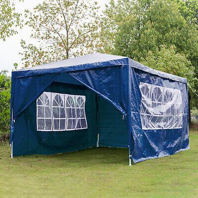Heavy Duty Gazebo Marquee Canopy Waterproof Garden Wedding Party Tent 3Mx4M Blue