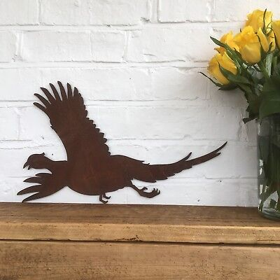 Flying Metal Sign (Rusty FLYING PHEASANT Sign Metal Home Shop Garden Ornament Wall Art Hunting)