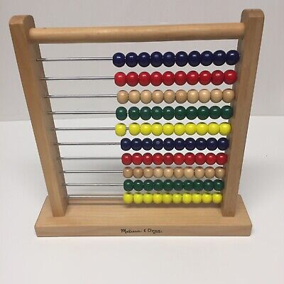 Melissa and Doug Classic Wooden Abacus | Educational Counting Frame Toy
