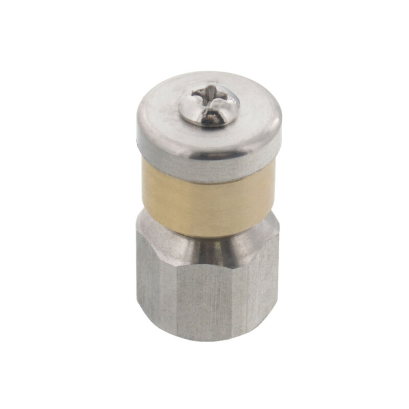 """Erie Tools Rotating 1/4"""" Sewer Jetter Nozzle for Drain Cleaning 7.5 Orifice"""