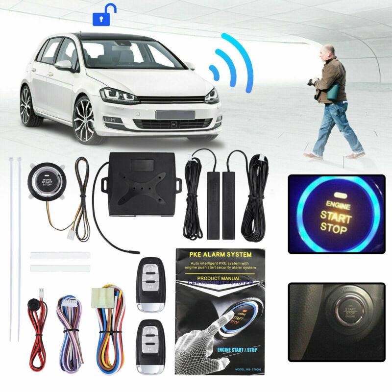 Universal Car Alarm System Engine Start Push Button Remote Starter Keyless Entry