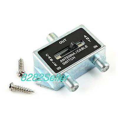 2 WAY A/B Coaxial Coax RF Switch SPLITTER Push Button Cable