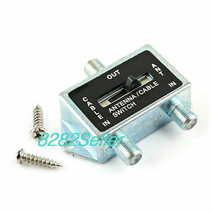 2 way a b coaxial coax rf switch splitter push button cable tv satellite antenna ebay. Black Bedroom Furniture Sets. Home Design Ideas