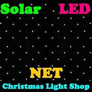 Solar Net Light WHITE 150 LED Flashing Outdoor Christmas Tree Garden Decoration
