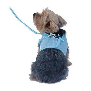 Dog soft mesh puppy vest harnesses 4 colors with free leash xxs xs s m