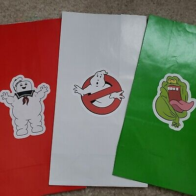 6 Ghostbusters party favor bags, treat, party - Ghostbusters Birthday Party