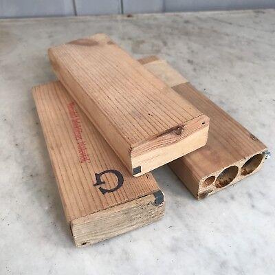 3 wooden boxes of glass vials for posting medical biopsy specimens